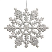 Club Pack of 12 Silver Splendor Glitter Snowflake Christmas Ornaments 8 17022733 | ChristmasCentral