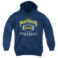 FRIDAY NIGHT LIGHTS/STATE CHAMPS - YOUTH PULL-OVER HOODIE - NAVY - SM - NAVY -