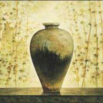 Chinese Vase with Bamboo I
