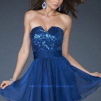 La Femme 18162 Short Dress