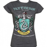 Ladies Charcoal Harry Potter Slytherin Team Quidditch T-Shirt : TruffleShuffle.com