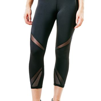 Michi Radiate Crop Leggings - Black