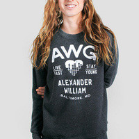 Guys AWG Live Young Crewneck Pullover - Glamour Kills Clothing
