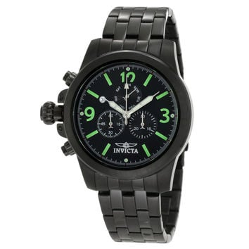 Invicta 10059 Men's Specialty Lefty Black Dial Black Ion Plated Stainless Steel Chronograph Watch
