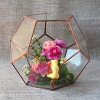 Geometric Crystal Shape Terrariums Tabletop Box Planter Vase Ball Type Hanabusa Glass Terrariums Garden Bottles Terrariums
