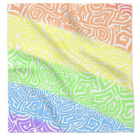 Rainbow tribal bandana