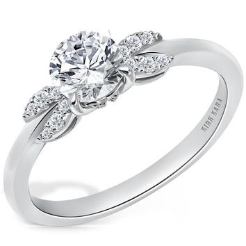 "Kirk Kara ""Angelique"" Petite Diamond Engagement Ring"