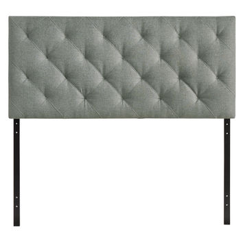 Theodore Full Fabric Headboard Gray