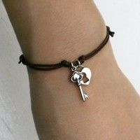 Open My Heart - Key and Lock Bracelet