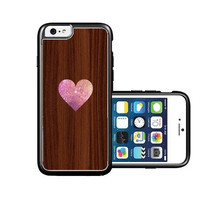 RCGrafix Brand Heart on Wood iPhone 6 Case - Fits NEW Apple iPhone 6