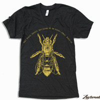 Unisex HONEY Bee Tri Blend V Neck T Shirt american apparel XS  S  M  L XL 2XL (3 Color Options)