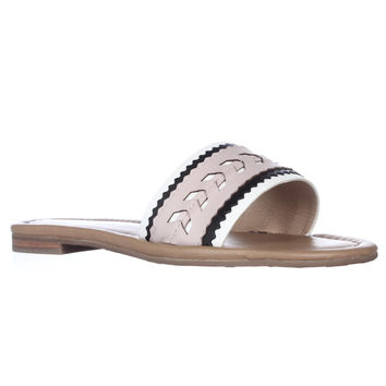 Ivanka Trump Arina Slide Flat Sandals - Pink Multi