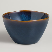 Indigo Organic Reactive Bowls, Set of 2 - World Market