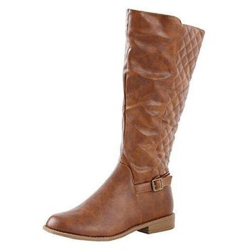 Women's Lahore Quilted Calf High Ridding Boots