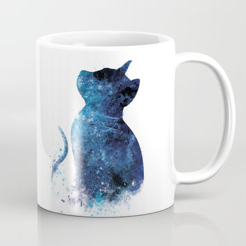 Blue Cat Coffee Mug by monnprint