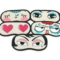 Kawaii Lovely Soft Sleeping Eye Mask Cartoon Blindfold Shade Portable Travel Help Sleep Aid Cover Light Guide Massage Patch C118