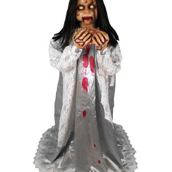 Rosemary Zombie Girl Animated Prop – Spirit Halloween