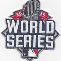TWINPACK - 2015 World Series Kansas City Royals Jersey Sleeve 2 Patch Pack