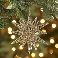 Multi-Point Glitter Star Ornament - Gold$4.76$5.95