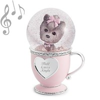 Personalized Puppy Love Musical Water Globe , Add Your Message