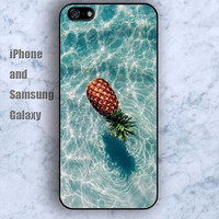 Pineapple  water iPhone 5/5S Ipod touch Silicone Rubber Case Phone cover Waterproof
