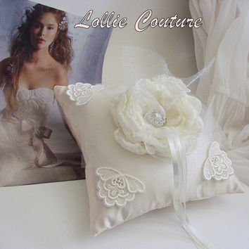 Wedding Ring Pillows by lolliecouture on Etsy