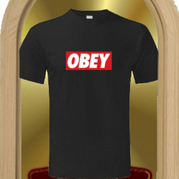Obey t-shirt vest tops 100% cotton