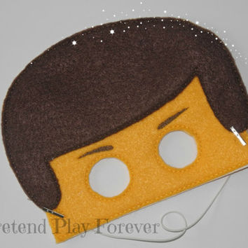 READY TO SHIP Lego Inspired Pretend Mask, Felt Lego Mask, Lego Party Favors, Pretend Play, Imagination Toys