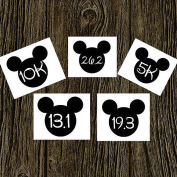 Run Disney Decal | Disney Marathon | Disney Stickers | Disney Decal | Disney Vacation | Disney Half Marathon | Disney 5K 10K 19.3 26.2 13.1
