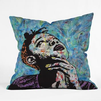 The Thinker collage throw pillow