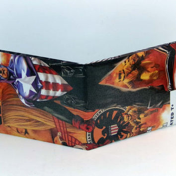 Comic Book Wallet// Captain America (Bucky Barnes)