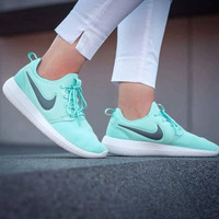 NIKE ROSHE TWO Women Light blue Casual Running Sport Sneakers Shoes