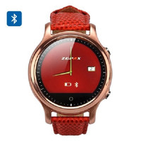 ZGPAX Smart Watch S360 with 1.22 Inch Screen has Bluetooth 4.0 for Phone Sync and App for use with App iOS and Android.