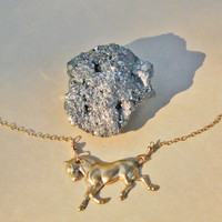 Golden Pony Necklace