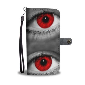 Red Eyes Print Wallet Case-Free Shipping