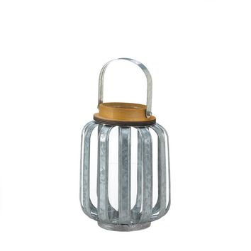 Iron Small Galvanized Metal Candle Holder Lantern