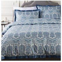 Griffin Blue Damask Duvet Bed Collection