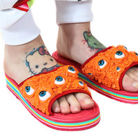 SLIME EYES RAINBOW SLIDES - ORANGE – tibbs & BONES