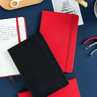 Fashion Business PU Leather A5 Notebook Portable Black Red Book Travel Journal Planner Diary Stationery Office & School Supplies