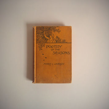 Antique 1800's Book 'Poetry of the Seasons'