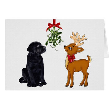 Black Lab Christmas Cards - Labrador Art - Dog Christmas Cards - Black Lab Art 03 - Cute Cards - Black Dog Art - Labrador Retriever