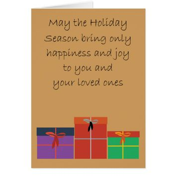Greetings / Christmas Card - Joy Presents