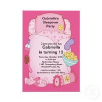 Sleepover Birthday Party Personalized Invite from Zazzle.com