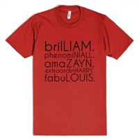 brilliam, fabulouis, etc.-Unisex Red T-Shirt