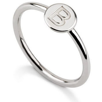 Initial Disc Ring - .925 Sterling Silver