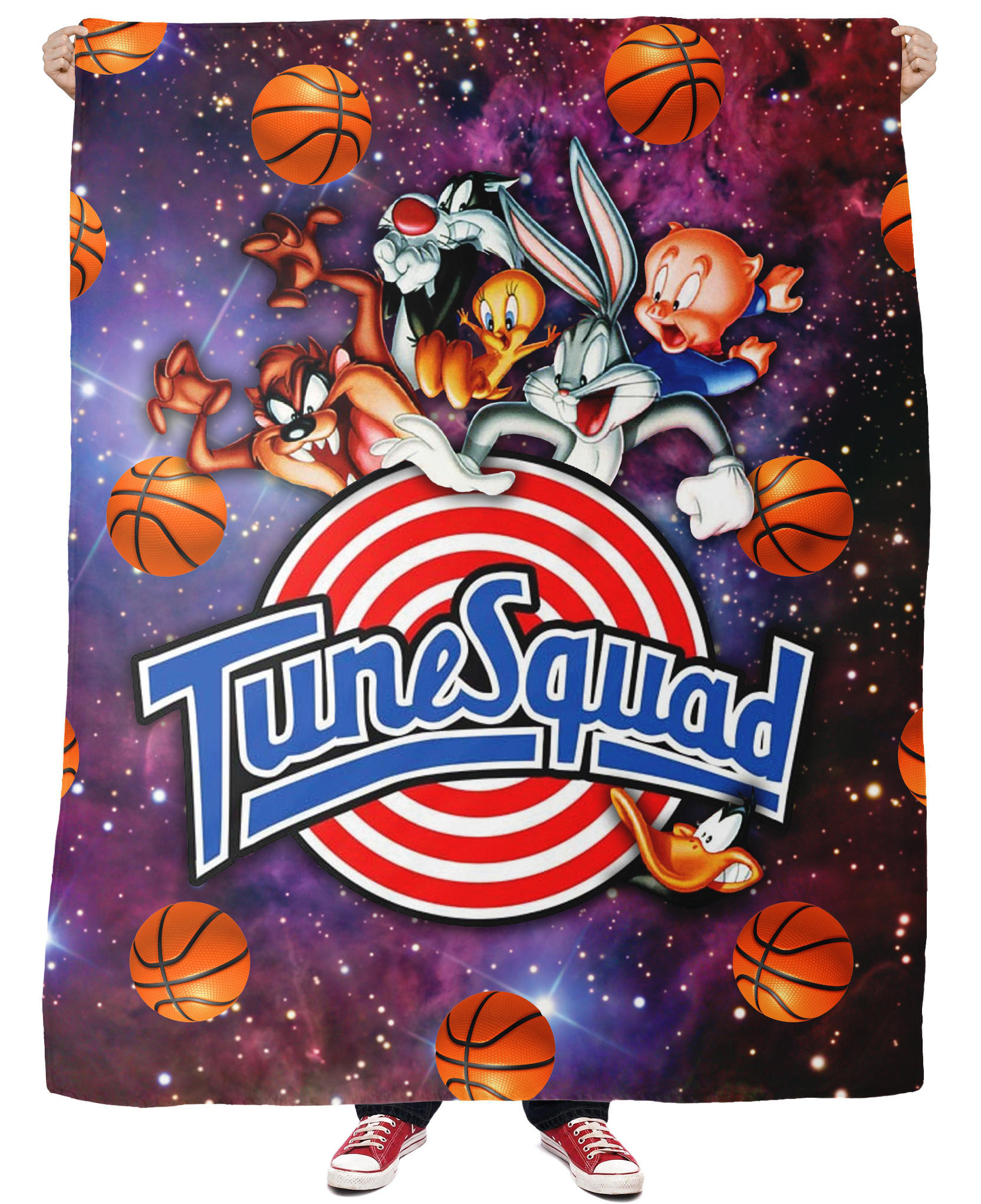 Space Jam Tune Squad Fleece Blanket From Rageon