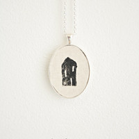 House Necklace * Gift * Minimalist * Home * Black House * Long Necklace * Family Jewelery * Housewarming * Home is wherever I am with you