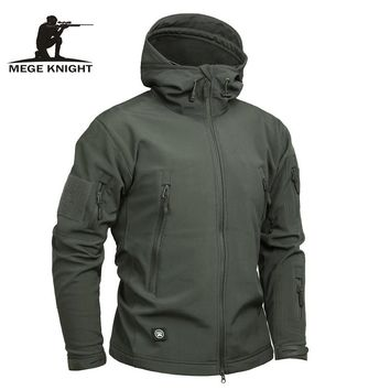 Mege Brand Clothing Men Military Jacket US Army Tactical Sharkskin Softshell Autumn Winter Outerwear Camouflage Jacket and Coat