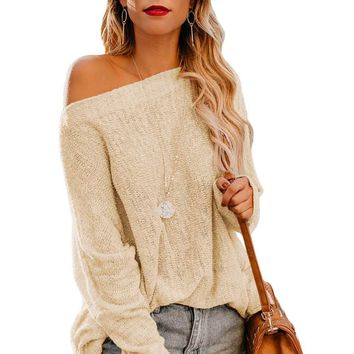 Apricot Drop Shoulder Lightweight Knitwear