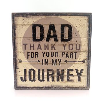 Home Decor THANK YOU DAD Wood Plaque Parent Father Love 32821